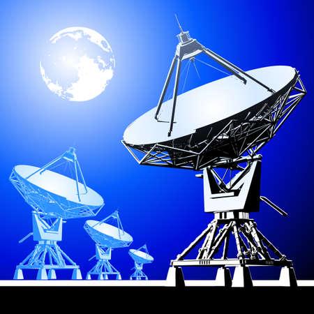 antena: satellite dishes antena
