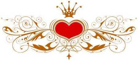 heart and crown: Emblema dellannata con cuore & la parte superiore