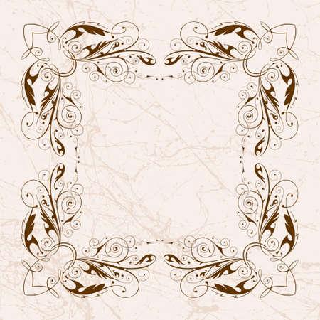 vector vintage floral frame Stock Vector - 2361917
