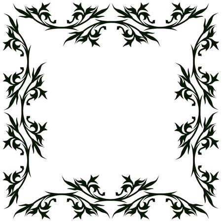 flora vector: Vintage floral frame Illustration