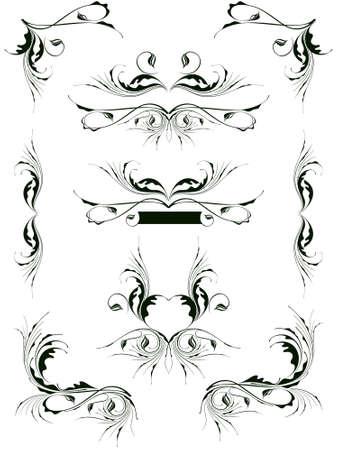 dingbats: vintage floral design elements