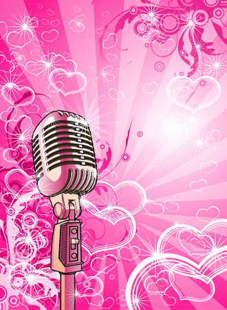 Pink valentines microphone
