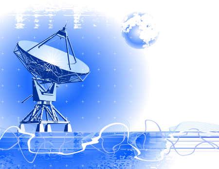 satellite dishes antenna ( doppler radar )