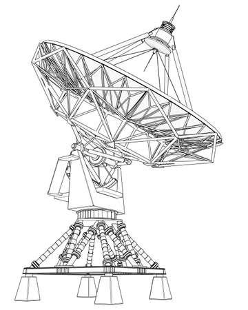 satellite dishes antenna (doppler radar): technical draw