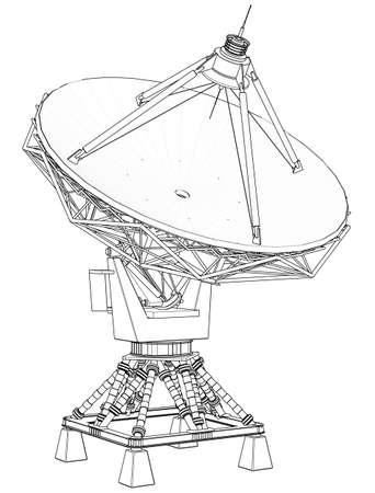 satellite dishes antenna (doppler radar): technical draw Stock Photo - 2470821