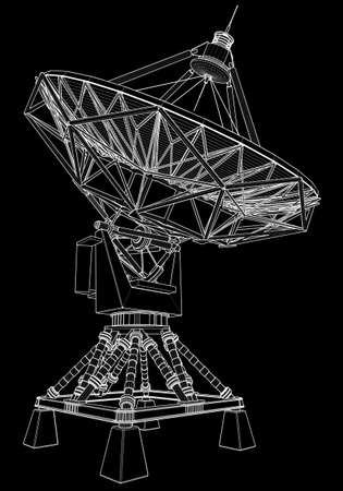 satellite dishes antenna (doppler radar): technical draw photo