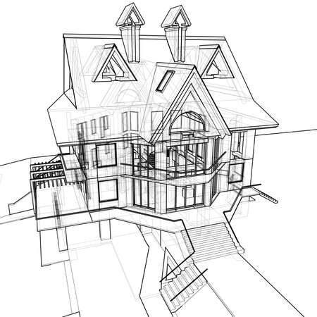 house: technical draw photo