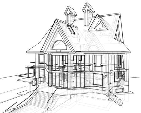 house: technical draw