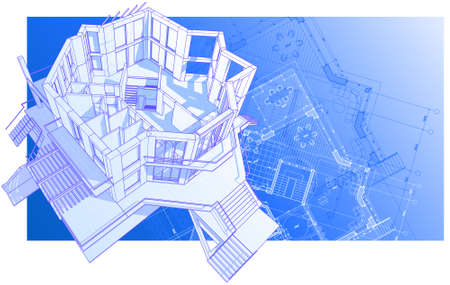 house: vector technical draw Vector