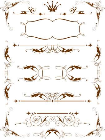 vintage floral design elements Stock Vector - 3377866