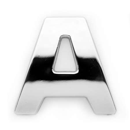 uppercase: A - Metal alfabeto s�mbolo