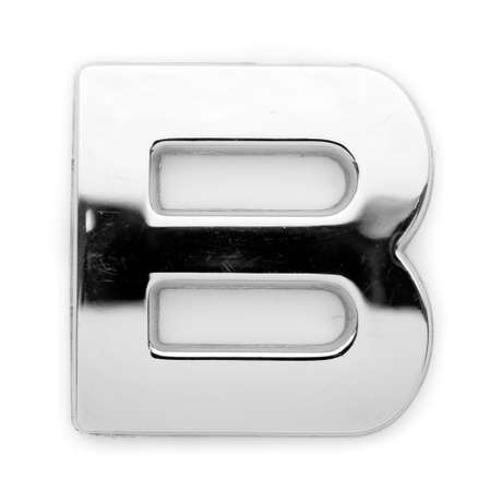 B - Metal alphabet symbol