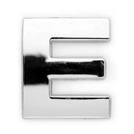 E - Metal alphabet symbol