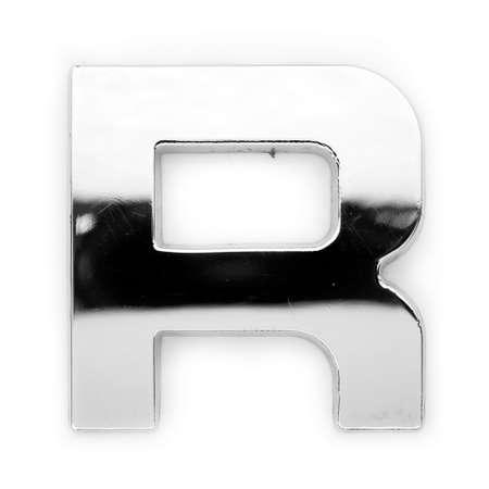 r image: R - Metal alphabet symbol