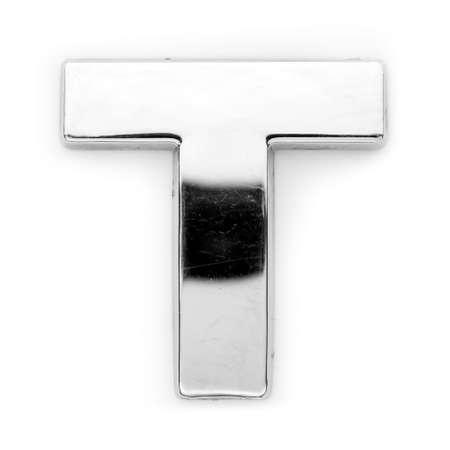 monotype: T - Metal alphabet symbol