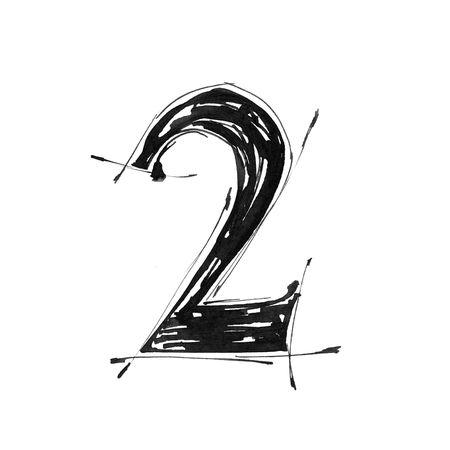 Alphabet symbol - digit Stock Photo