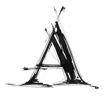 decorative letter: Alphabet symbol - letter A
