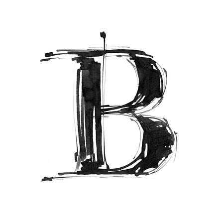 write a letter: Alphabet symbol - letter B