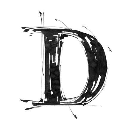 letter d: Alphabet symbol - letter D