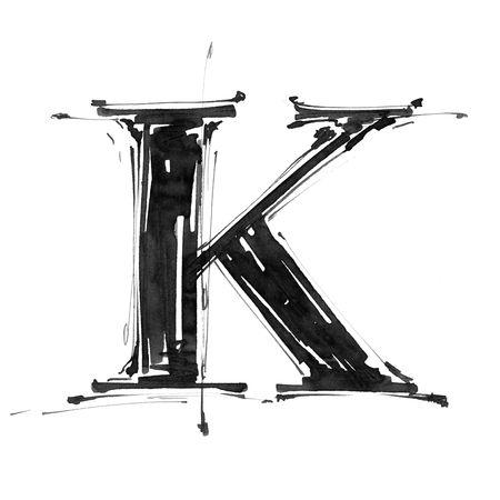 Alphabet symbol - letter K Stock Photo