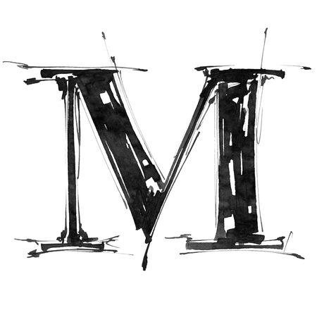 artistic font: Alphabet symbol - letter M