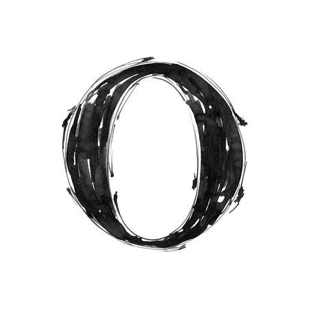 Alphabet symbol - letter O