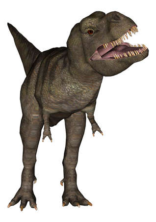 3D digital render of a Tyrannosaurus Rex isolated on white background Stock Photo