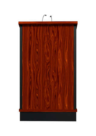 lectern: 3D digital render of a wooden lectern isolated on white background