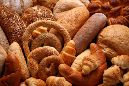 bakery products: Display of bakery products