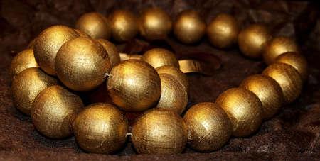 wooden goldish necklace photo