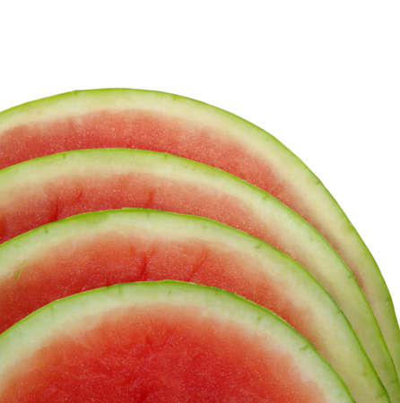 seedless: fresh watermelon seedless slices isolated on white