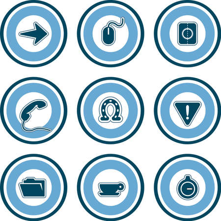 i hope: Design Elements p. 13b - high resolution icons for general use. I hope you enjoy. Stock Photo