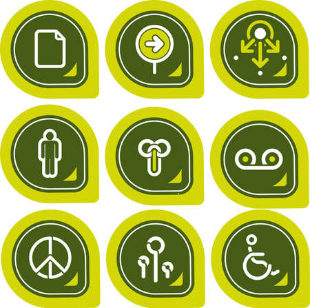 Design Elements p. 12b - high resolution icons for general use, simply change any colour as you wish. I hope you enjoy. Stock Photo - 261220