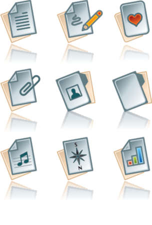 Design Elements 43a Paper works Icons Set vector file format, fully editable and scalable, just change colors as you wish Vector
