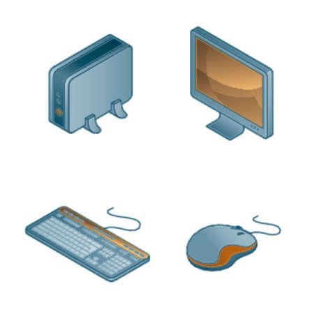 Design Elements 44b. Computer Icons Set Vector