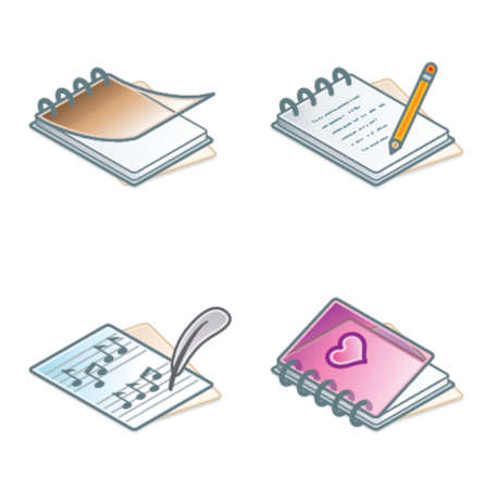 note pad and pen: Design Elements 45a