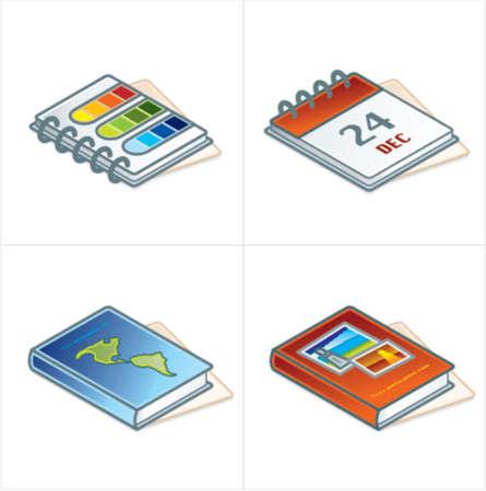 Design Elements 45d. Paper Suff Icons Set Illustration