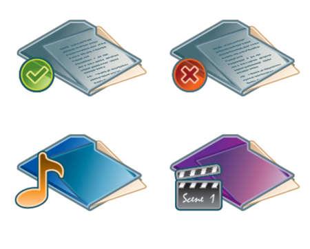 Design Elements 45a. Folders Icon Set Vector