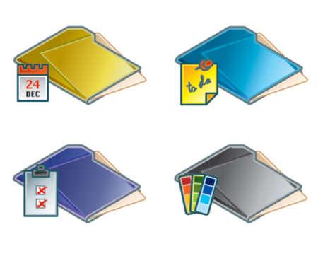 negar: 45d elementos de dise�o. Carpetas icono Set