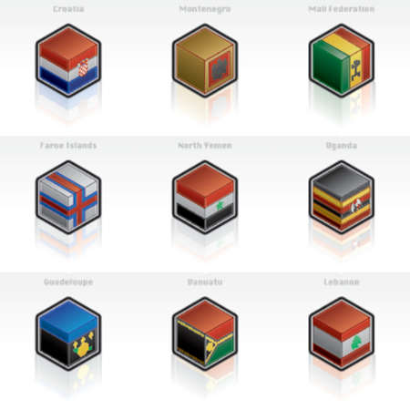 web designers: Flag Icons Set - Design Elements 56x, its specially designed with a web designers in mind to achieve PIN SHARP ICONS ON A SCREEN Illustration