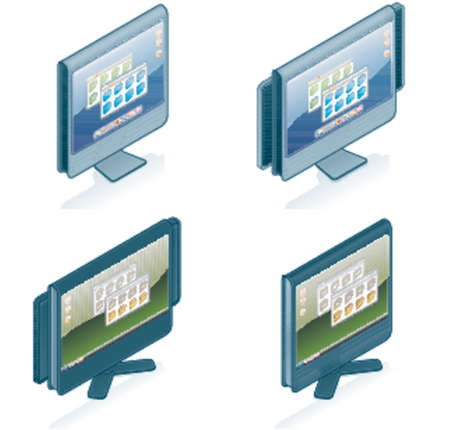 Computer Hardware Icons Set - Design Elements 55g, it's specially designed with a web designers in mind to achieve PIN SHARP ICONS ON A SCREEN Stock Vector - 825828