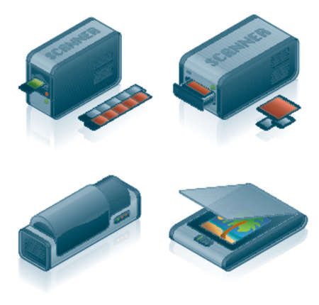 Computer Hardware Icons Set - Design Elements 55h, it's specially designed with a web designers in mind to achieve PIN SHARP ICONS ON A SCREEN Stock Vector - 825825