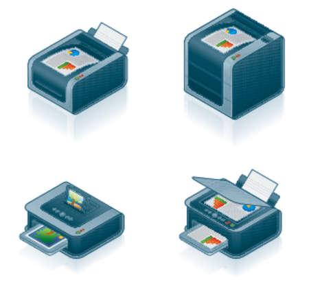 fotocopiadora: Computer Hardware Icons Set - 55o elementos de dise�o, es especialmente dise�ado con una web de dise�adores en mente para lograr PIN SHARP ICONOS EN UNA PANTALLA