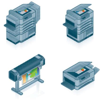 fotocopiadora: Computer Hardware Icons Set - 55p elementos de dise�o, es especialmente dise�ado con una web de dise�adores en mente para lograr PIN SHARP ICONOS EN UNA PANTALLA
