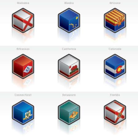 bandera estados unidos: Los Iconos De las Banderas De Estados Unidos Fijan - Dise�e Los Elementos 58a
