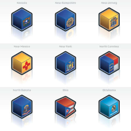 United States Flags Icons Set 58d, its specially designed with a web designers in mind to achieve PIN SHARP ICONS ON A SCREEN Vector
