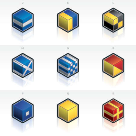 International Maritime Flags Icons Set 58h, its specially designed with a web designers in mind to achieve PIN SHARP ICONS ON A SCREEN. Vector