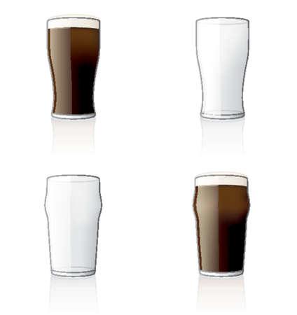 cerveza negra: Glass Icon Set 60 bis, especialmente dise�ados con una web de dise�adores en cuenta para lograr PIN SHARP iconos en una pantalla.  Vectores
