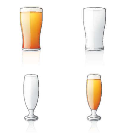 vasos de cerveza: Glass Icon Set 60d, es especialmente dise�ado con una web de dise�adores en mente para lograr PIN SHARP ICONOS EN UNA PANTALLA.  Vectores
