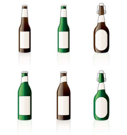 Beer bottles Icon Set 60d, Beer bottles its a high resolution image with a CLIPPING PATH for easy remove unwanted shadows underneath. Vector